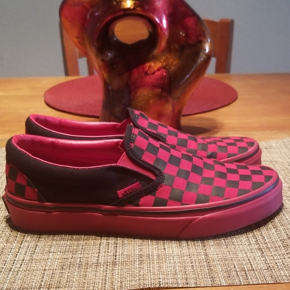 Vans Shoes   Vans Custom Red Bottoms
